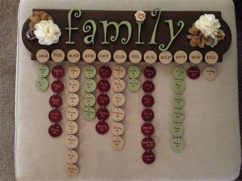 Handmade Birthday Calendar - 44 best images about family birthday calendar ideas on