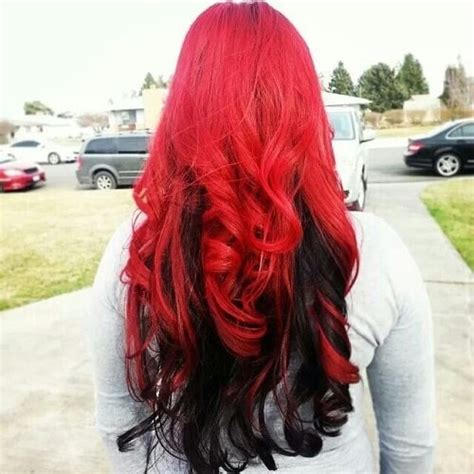 black hairstyles red hair ombre hair black to red brown www pixshark com images