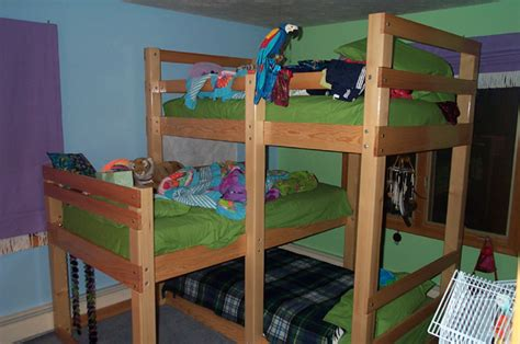 Blueprints For Triple Bunk Beds by Triple Bunk Bed Plans Loft Beds And Bunk Beds Buying Ready Made Vs Bed Plans Diy Amp Blueprints