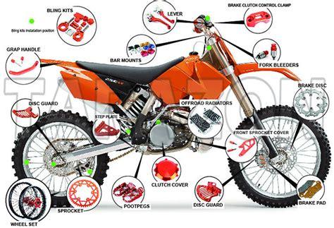 motocross bike parts cnc anodized parts footpegs pegs ktm dirt bikes mx