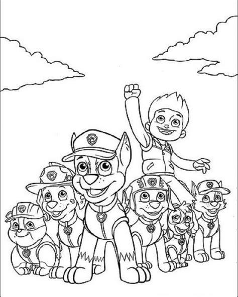 Dibujos Para Pintar Patrulla Canina | la patrulla canina dibujos para colorear
