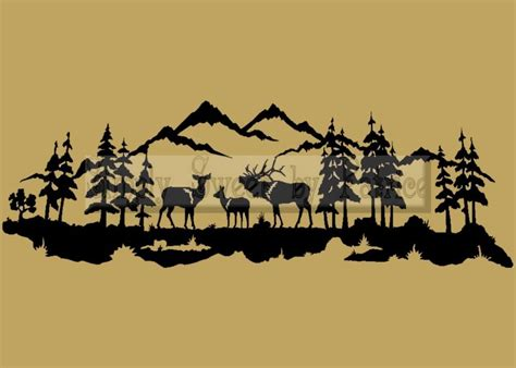 outdoor wall mural stencils outdoor deer elk vinyl wall saying lettering quote decoration decal sign ebay