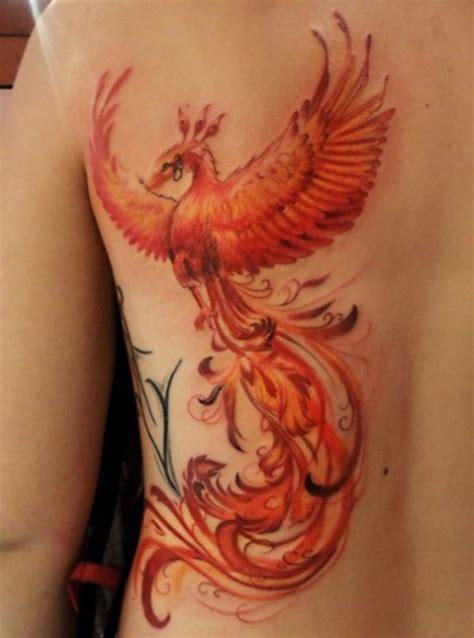 phoenix tattoo in orange ma back tattoos askideas com
