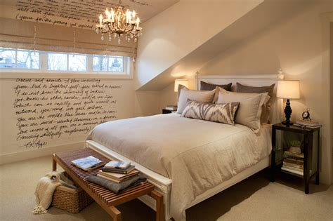 sloped ceiling bedroom ideas attic bedroom transitional bedroom kelly deck design