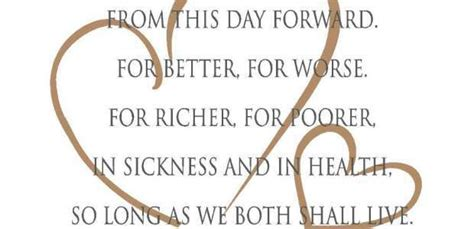 Wedding Vows In Sickness by For Richer Or For Poorer Wedding Vows Unique Wedding Ideas