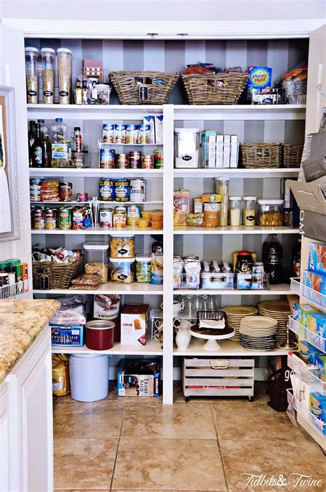 Small Pantry Makeover by Pantry Makeover Before After Tidbits Twine