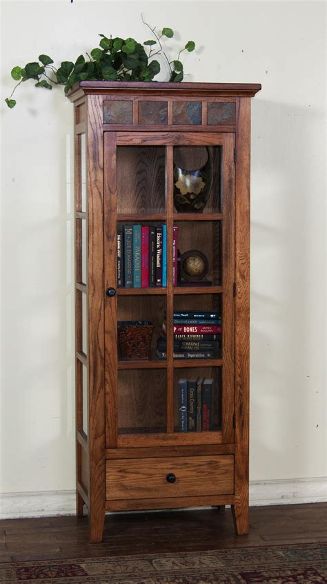 curio cabinet with drawers sedona curio cabinet with and shelf storage by