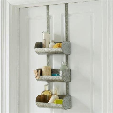 west elm bathroom storage conveyor shelf over the door organizer west elm
