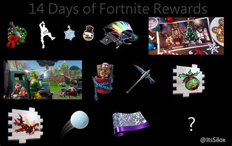 leaked rewards  completing   days  fortnite