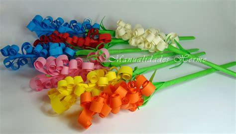 flores de hoja de maquina flores de papel llenas de color c 243 mo hacer jacintos