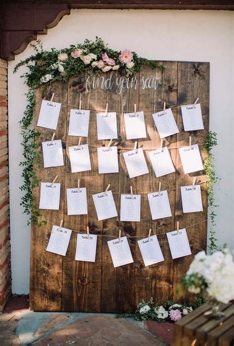 rustic themed wedding seating plan 15 trending wedding seating chart display ideas for 2018