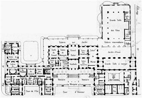 palace floor plans houses of state elysee palace paris home of the