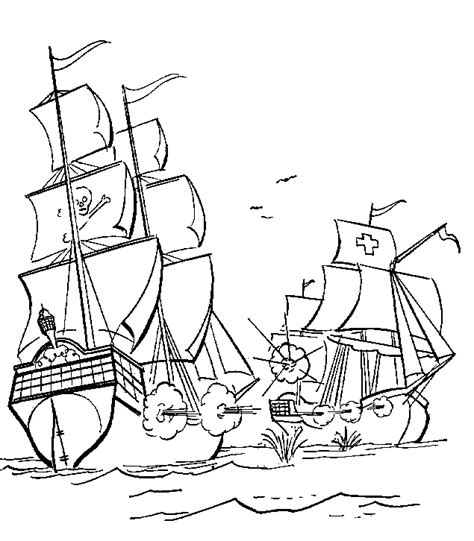 Pirate Coloring Pages Coloringpagesabc Com Pirate Ship Coloring Page