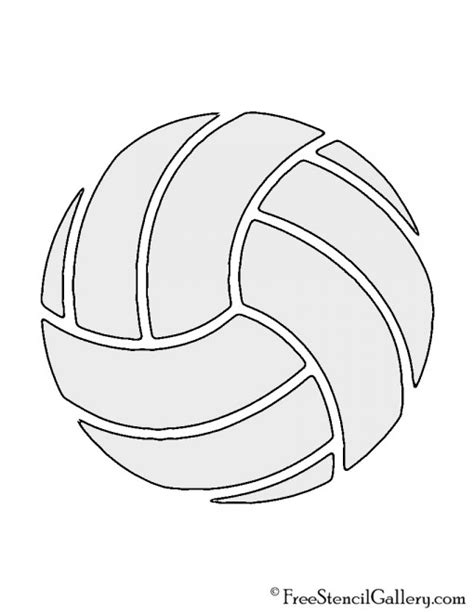 free printable volleyball tags volleyball stencil free stencil gallery