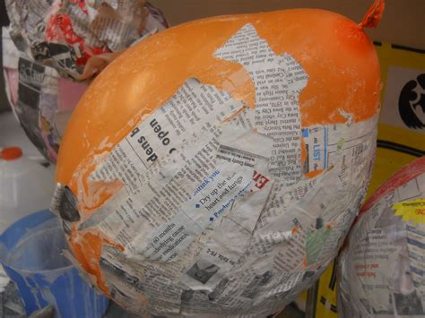 How Do U Make Paper Mache Paste - paper mache masks with balloons images