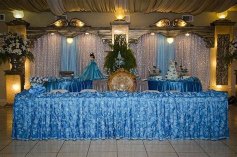 quinceanera masquerade table decorations photograph table