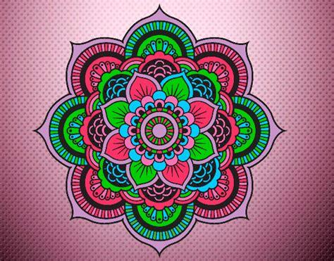 imagenes de mandalas faciles pintados dibujo de a todo color pintado por zahiracha en dibujos