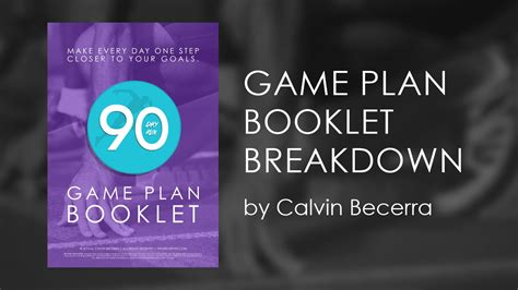 90 Day Gaming Detox by 90 Day Run Plan Booklet Breakdown By Calvin Becerra