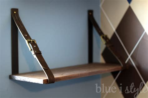 Belt Shelf by Diy With Style Leather Belt Shelves A High Low Story