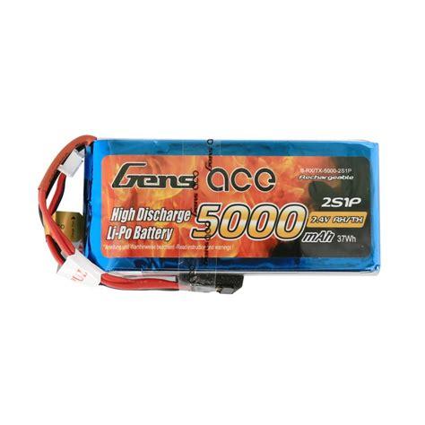 5000 Mah 2s1p 74v 20 30c Hardcase Pack Murah 1 gens ace 5000mah 7 4v rx tx 2s1p lipo battery pack gens ace