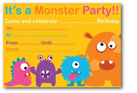 free printable monster birthday decorations monster birthday party invitations ideas bagvania free