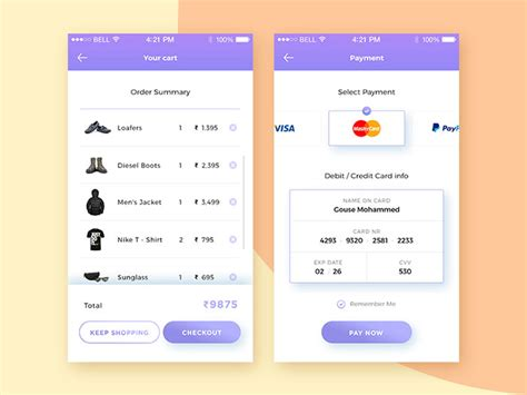 design app price list design in mobile user interfaces 26 designs