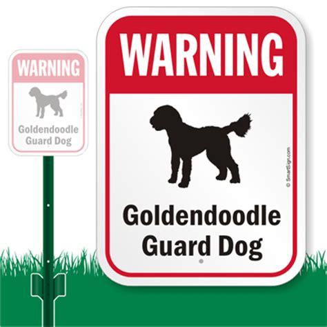 windows security sign in doodle warning sign golden doodle guard sign lawnboss