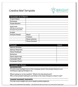 ogilvy creative brief template creative agency brief template