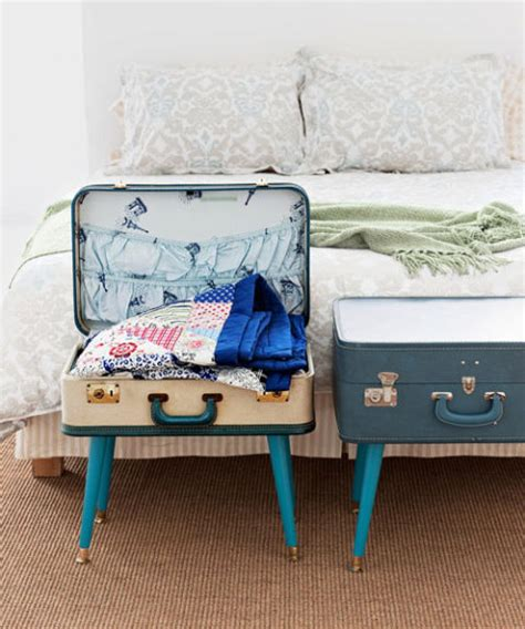 Handmade Suitcase - diy table from luggage suitcase table craft