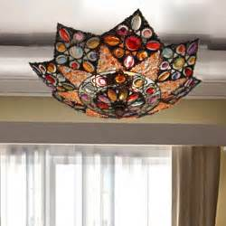 ceiling light decoration bohemian nepal handmade multicolour acrylic