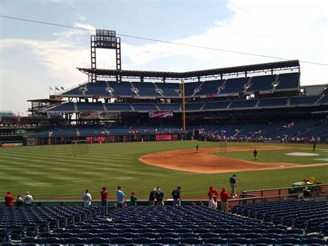 section 135 citizens bank park citizens bank park section 134 row 25 seat 10