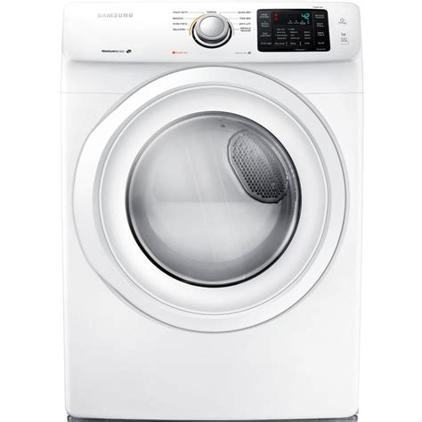 samsung  cu ft electric dryer  white dvhew