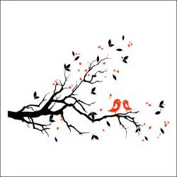 Wall Stickers Bird Cage trees