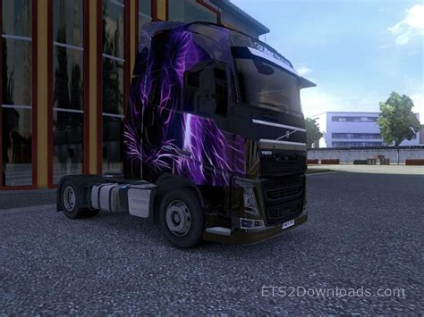 Fh Purple purple tiger skin for volvo fh 2012 truck simulator 2 mods