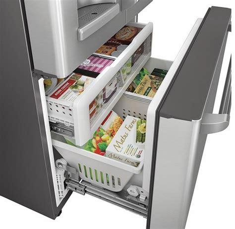 Ge Cafe Counter Depth French Door Refrigerator - cye22tshss ge cafe series energy star 22 1 cu ft counter