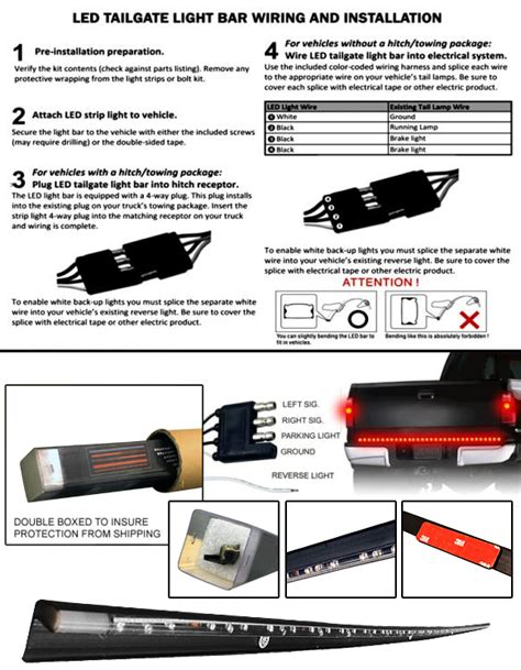 tailgate light bar wiring diagram for tailgate free