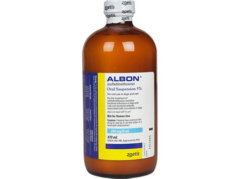 albon for dogs albon 5 for dogs cats zoetis animal health safe pharmacy cat rx pet