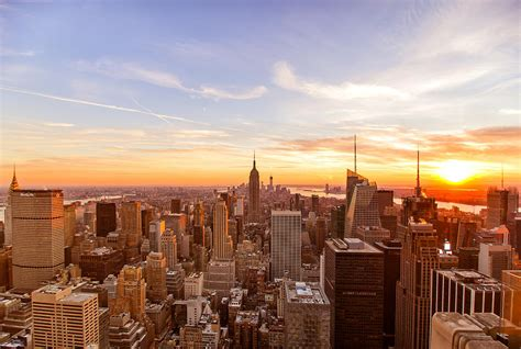 new york city sunset skyline photograph by vivienne gucwa