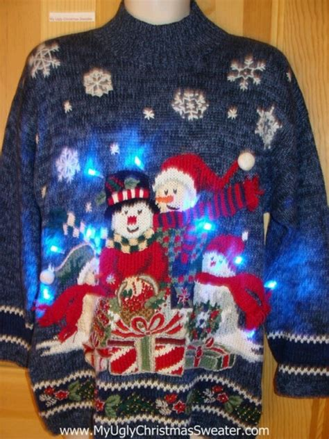 Light Up Ugly Christmas Sweater Uglychristmassweater From Sweaters Light Up