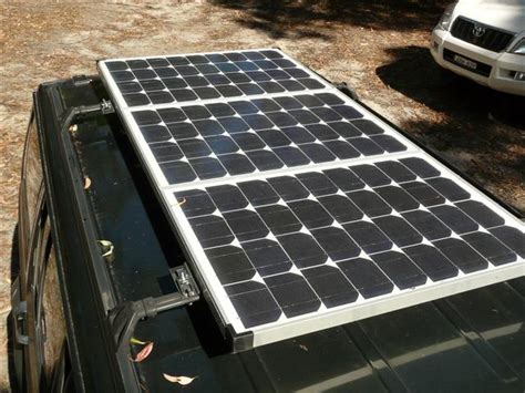 slide together roof panels vehicle mounted solar panel on the roof