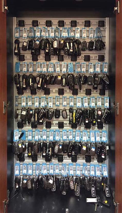 auto dealer key cabinet locking car key cabinet with key management for new car