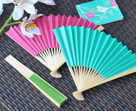 How To Make Paper Fans For Weddings - paper fans colored