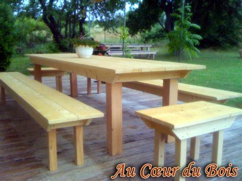 Table De Jardin En Bois Avec Banc by Table De Jardin En Bois Avec Banc L Habis