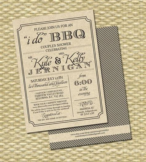 barbeque rehearsal dinner invitations rustic kraft i do bbq invitation rehearsal dinner