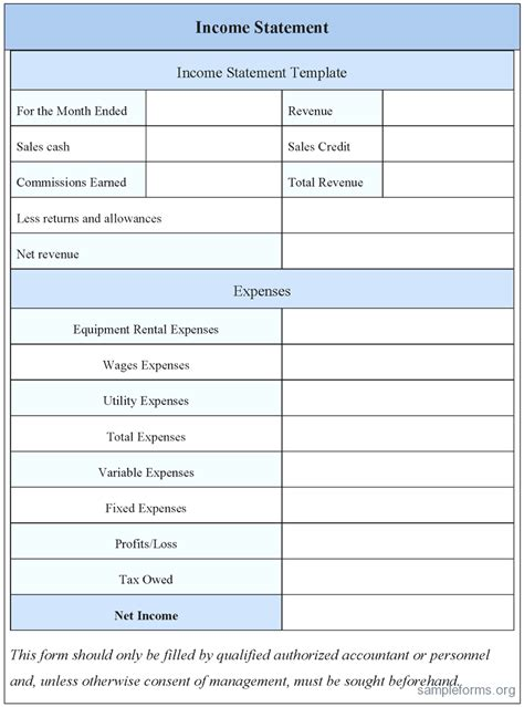 Profit And Loss Statement Exle Excel Fiveoutsiders Com Basic Income Statement Template Excel Spreadsheet