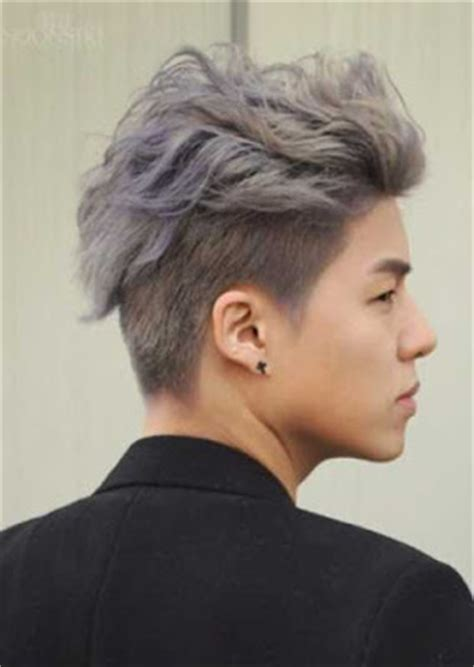 Model Rambut B A P by Model Rambut Undercut Pria Asia Bleached White Purple Top
