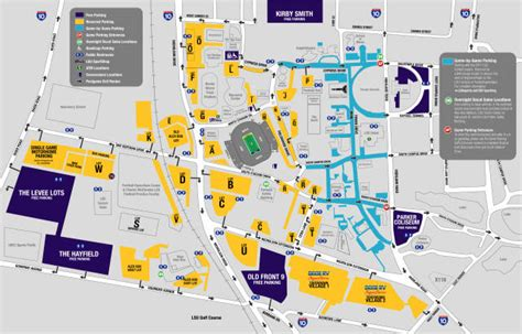 lsu football parking map 2012 lsu football parking information lsusports net