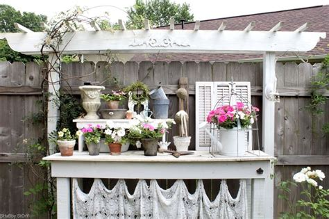 shabby chic bench ideas beautiful shabby chic potting bench ideas attractive