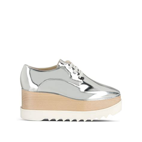 stella mccartney sneakers silver elyse shoes stella mccartney