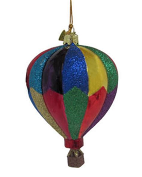 hot air balloon colorful christmas ornament activities